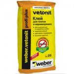 Клей для керамогранита и камня, 25кг. WEBER.VETONIT Profi +