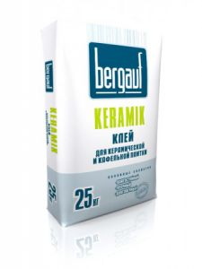 Клей для плитки Keramik, 25кг. Bergauf