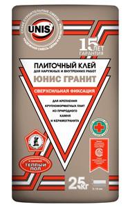 Клей плиточный ЮНИС Гранит, 25 кг