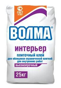 Клей плиточный ВОЛМА-Интерьер, 25кг.