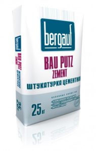 Штукатурка Bau Puts Zement , 25кг. Bergauf