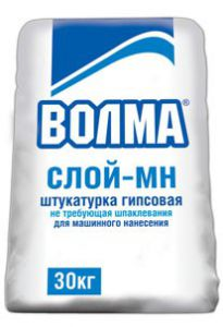 Штукатурка гипсовая ВОЛМА-СЛОЙ МН, 30кг.