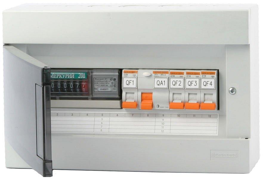 Установка электросчетчика в щиток